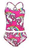 AmzBarley Ragazze Unicorno Costumi da bagno per bambina 7-8 Anni