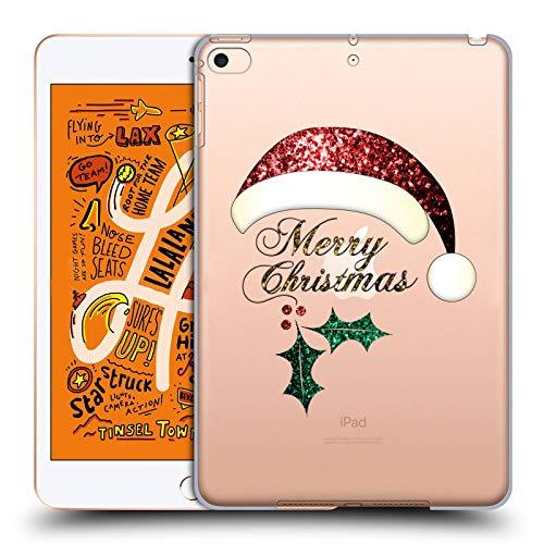 Head Case Designs Offizielle PLdesign Santa Hut Weihnachten Harte Rueckseiten Huelle kompatibel mit iPad Mini (2019) (Hut Santa Weihnachten)