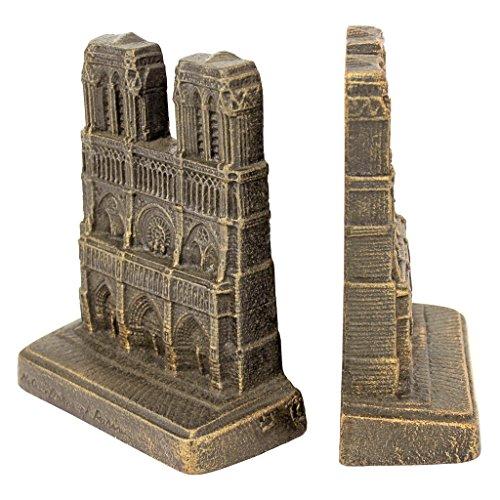 Design Toscano SP1387 Serre-Livre Décoratif Notre-Dame de Paris, Bronze, 6.5 x 15 x 18 cm