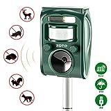 ZOTO Repellente Ultrasuoni Gatti, Solar Animale Repeller Impermeabile per Allontanare Animali, Topi, Cani, Gatti, Uccelli
