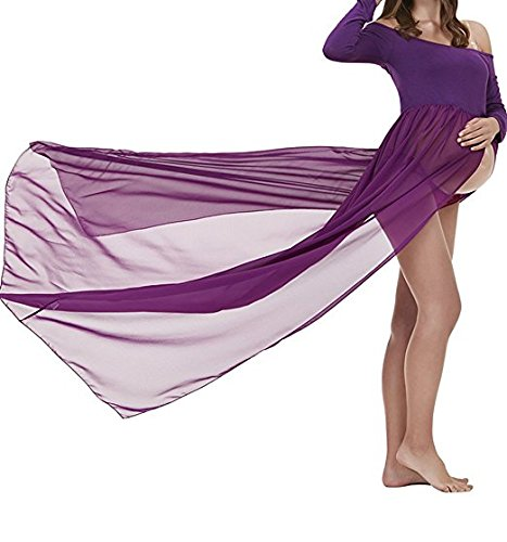 Schwangere Frauen Fotografie Stützen, Schwanger Kleid Maternity Gown Split Front Foto Shoot Kleid, Mutterschaft Fotografie Kleidung Schwangerschafts Maxikleid Schwangerschafts Kleid (Dress Fancy Baby)