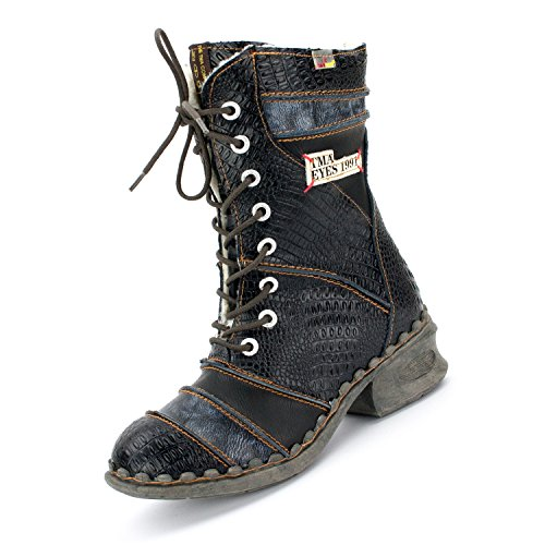 TMA Damen Winter-Stiefel, Perlschwarz - 39