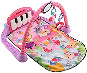 Fisher Price BMH48 Rainforest Piano-Gym mit Musik und Lichtern pink