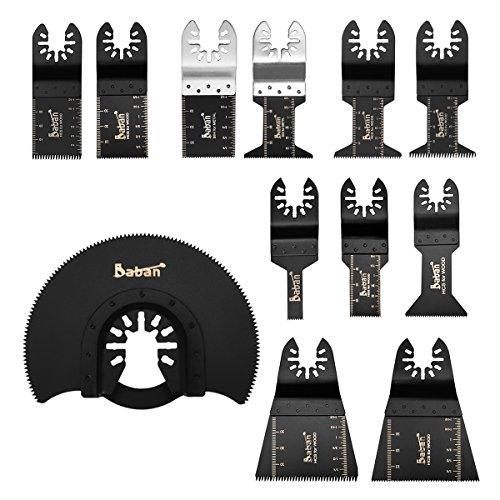 12tlg Sägeblätter Zubehör von Baban Multi-Tool Multifunktionswerkzeuge Set Multitools Werkzeug Elektrische Werkzeuge Für die meisten Modelle