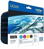 Brother LC985VALBPDR - Pack de 4 cartuchos de tinta 1x 300 lados, 3x 260 lados, multicolor