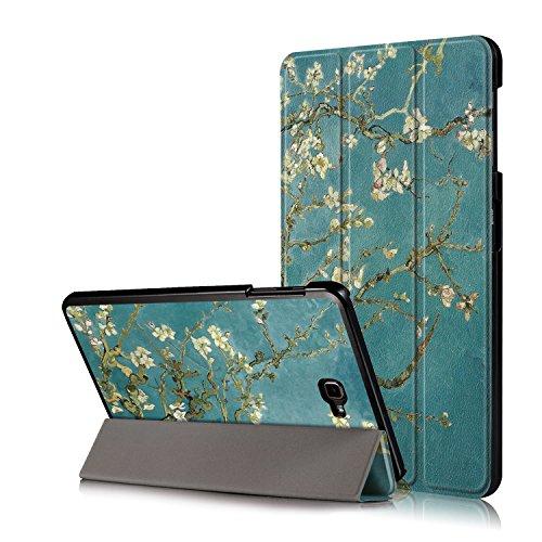 Xuanbeier Ultra Slim Custodia Leggero Supporto Smart Cover con Funzione Sleep/Wake per Samsung Galaxy Tab A6 10.1 25,7 cm sm-t580 N T585 N,Flower