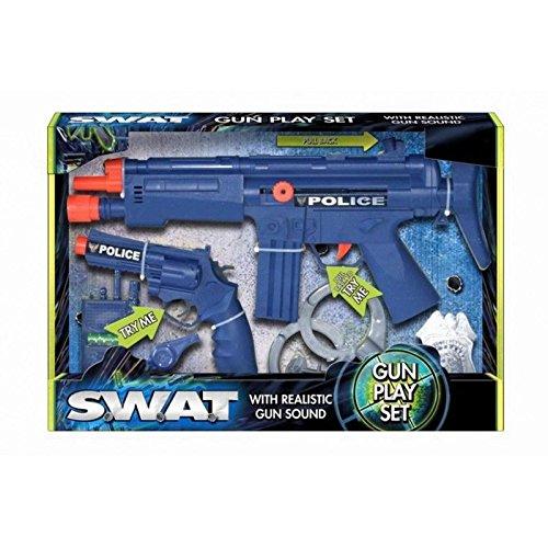 Polizeiwaffen-Spielzeug-Set mit realistischen Geräuschen für Kinder, Verkleidungen, SWAT-Spielzeug-Set (Swat-team Pistole)