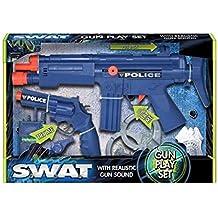 Set Policía pistola de juguete con sonido realista Kids–Juego de disfraz Play SWAT