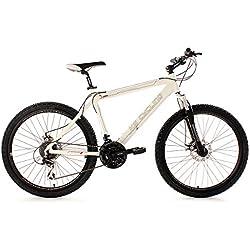 "KS Cycling Heed 254B - Bicicleta de montaña, color blanco, ruedas 26"", cuadro 53 cm"