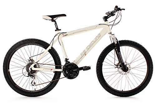 KS Cycling Heed 254B - Bicicleta de montaña, color blanco, ruedas 26',  cuadro 53 cm