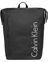 Calvin Klein Quad Stitch Hombre Backpack Negro