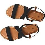 Sandalias Mujer Verano 2019 Planas, Zapatos de Playa Sandalias Romanas de Banda elástica Sandalias de Boca de Pescado Planas