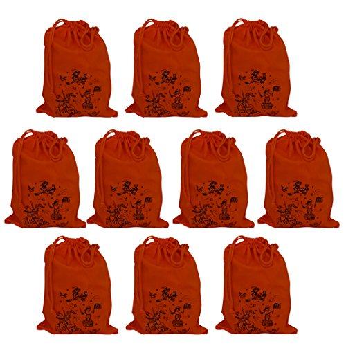Baumwollbeutel als Mitgebseltüte für Kindergeburtstag mit 10 Kindern; mit verschiedenen Motiven z.B für die Piratenparty oder Rittergeburtstag Kinderparty Partytüte Ritter Partytüte Hexe Partytüte Pirat
