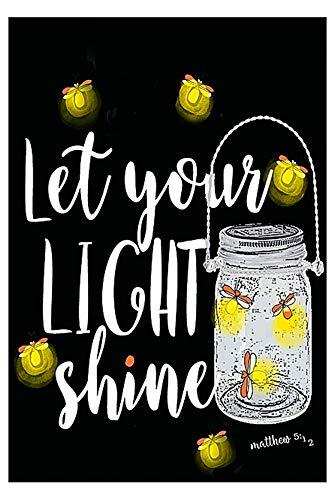 Let Your Light Shine Mason Jar Firefly Dekorative Flagge doppelseitig Garden 12x18 Inches Multi - Bug-deck