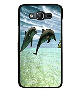 printtech Dolphin Ocean Water Back Case Cover for Samsung Galaxy On5 Pro