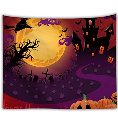 TUWEN Wandbehang Wandteppich Horror Halloween Halloween Gobelin Kissen