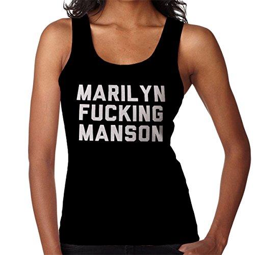 Marilyn Fucking Manson Women's Vest Black