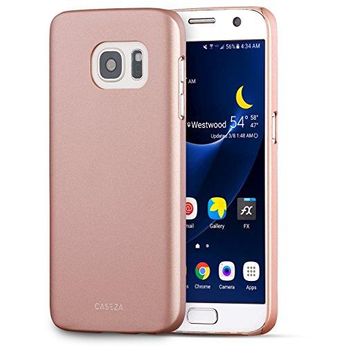 CASEZA Galaxy S7 Hülle Rose Gold Rio Case Back Cover mit Mattem Finish - Premium Hard Case Bumper mit Gummierter Oberfläche für Angenehme Haptik - Hochwertige Schutzhülle Ultra Slim