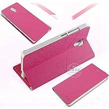 Prevoa ® 丨 Xiaomi Mi4 Funda - Flip Funda Cover Case para XIAOMI MI4 5.0 Pulgadas Smartphone - Rosa