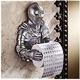 Toilettenpapier Halter als historischer Ritter