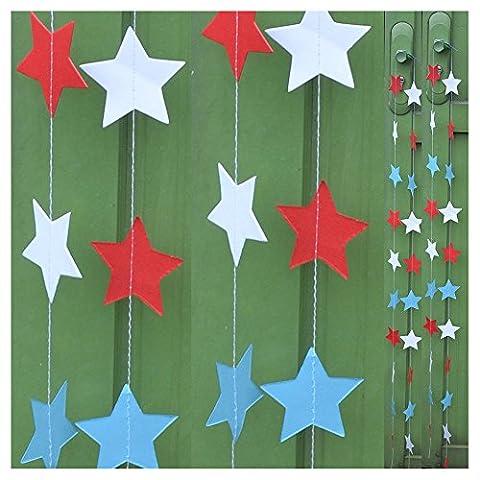 Star Paper Garland, DRESHOW 3.25 Feet Long Star Garland Bunting
