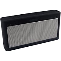 LuckyNV Protective Case Soft Silicone Shockproof Waterproof Protective Sleeve for Bose SoundLink 3 Bluetooth Speaker Black