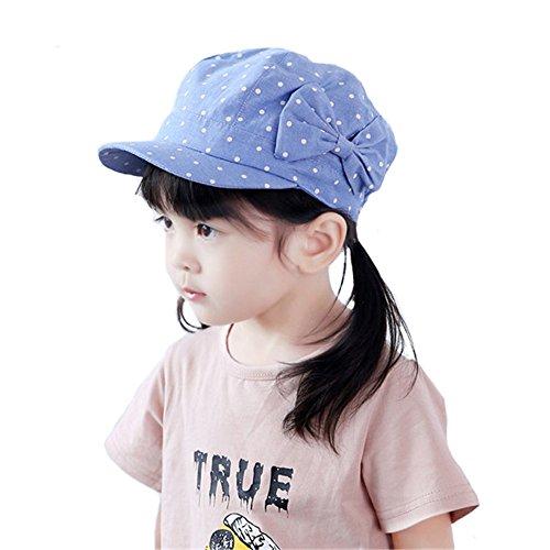 Flatcaps Baumwollehut Mädchen Baby-Mädchen Baby Hut Ballonmütze Tupfen Sonnenhut,S