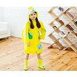 GAODUZI Kinder Regenmäntel Jungen Und Mädchen Mit Schulranzen Mode Wasserdichte Poncho Kindergarten Baby Regenbekleidung Gezeiten (Farbe : H-M)