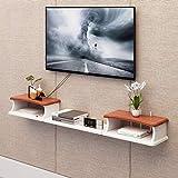 Wandregal schwebendes Regal Wand-TV-Schrank TV Hintergrund Wanddekoration Regal TV-Stand Set Top Box Router Aufbewahrungsbox