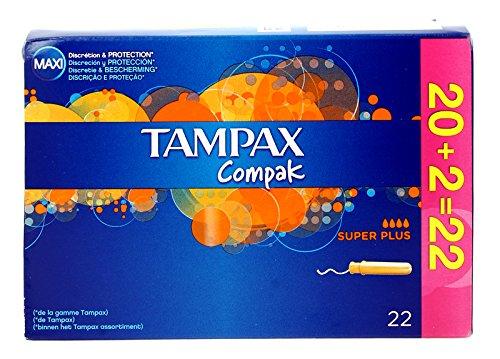 Tampax Compak Super Plus Tampons Applikator, 24Tampons - Karton Applikator Tampons