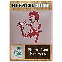 Bruce Lee Lucha artes marciales Mylar aerógrafo pintura pared arte manualidades plantilla A1 Size Stencil - Xlarge