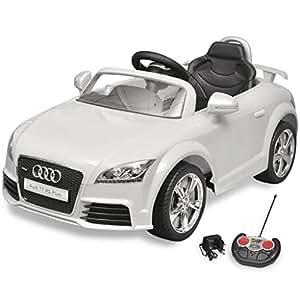 vidaxl voiture electrique pour enfants blanc avec t l commande v hicule jouet jeux. Black Bedroom Furniture Sets. Home Design Ideas