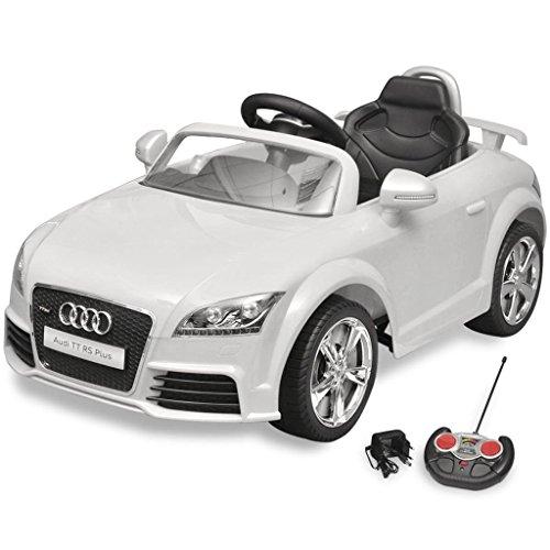 vidaXL Voiture électrique pour enfant Audi TT RS blanche avec télécommande