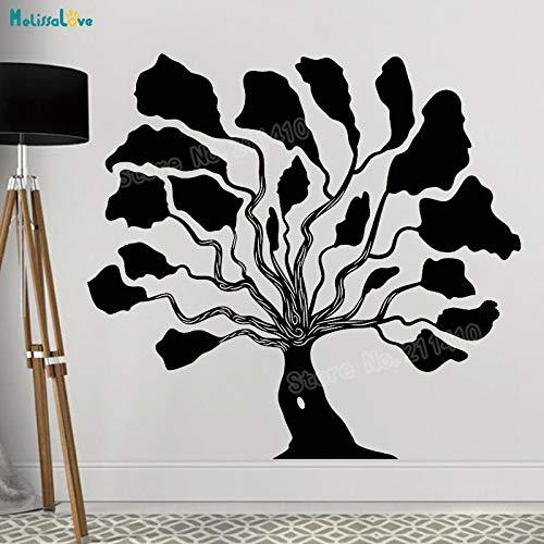 zhuziji Abstrakte Baum Tapete Vinyl Wandtattoos Dekoration Für Wohnzimmer Schlafzimmer Selbstklebende Einzigartige Kunstwand weiß 120x112 cm