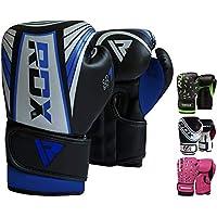 RDX Guantes de Boxeo Niño para Entrenamiento y Muay Thai | Maya Hide Cuero Junior 4oz, 6oz Mitones para Kick Boxing, Sparring | Combate Kids Boxing Gloves para Saco Boxeo Training