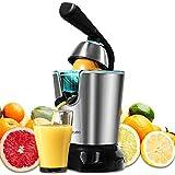 Cecotec Citrus PowerAdjust 600 Black Elektrische sapcentrifuge met vruchtvleesfilter, roestvrij stalen filter, twee uitneemba