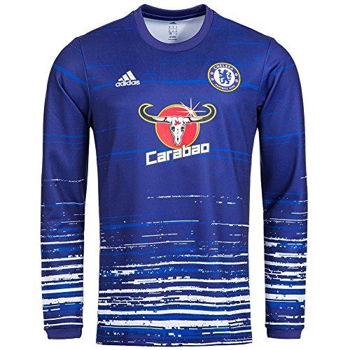 FC Chelsea adidas Herren Trainings Trikot Langarm AX7013 (Chelsea Training Trikot)