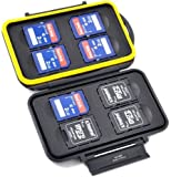 Harrd Shell Water Resistant Multi Use Memory Card Case for SD / SDHC / SDXC / microSD / microSDHC / microSDXC / Pro DUO / Compact Flash Cards (8 x SDHC Hard Shell)