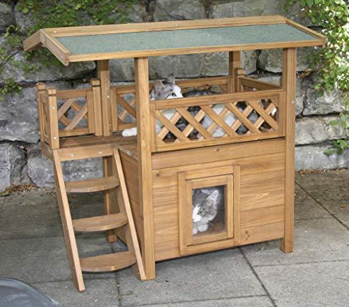 Kerbl Katzenhaus Lodge aus Holz - 3
