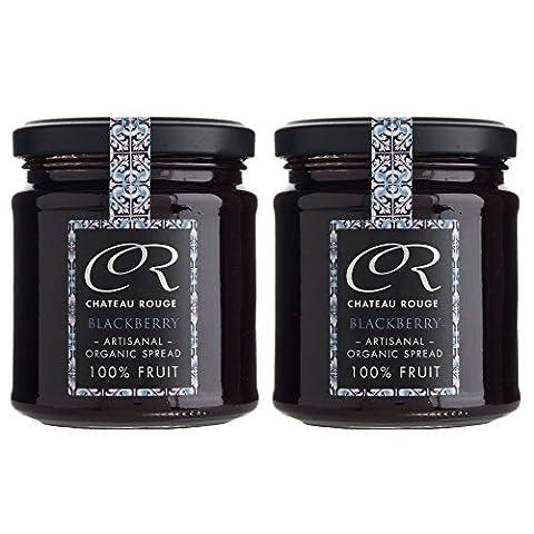 Chateau Rouge - Organic 100% Fruit Jam Gift Set - Blackberry, (2 X 220g)