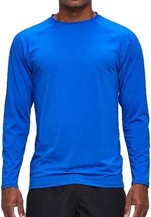 Arcweg Rashguard Men Long Sleeves Diving UV Protection UPF 50+ Elastic Rash Vest Loose Fit Top Swimming Quick Drying Surfing Pool T-Shirt Sports Top Rashie