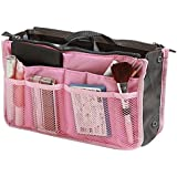 Demarkt bolsa de viaje cosméticos organizador funda Inserto almacenamiento bolso Mujer, Rosa oscuro