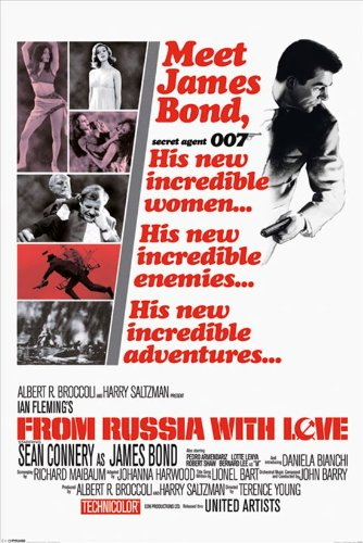 James Bond Pyramid International from Russia with Love Affiche Maxi