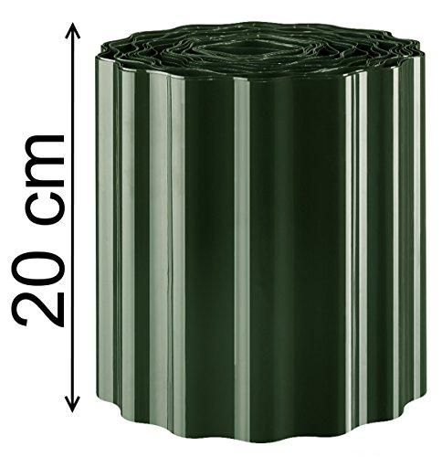 Rasenkante Beeteinfassung Beetumrandung Rasenbegrenzung Raseneinfassung Mähkante Sinuswelle Farbe Grün