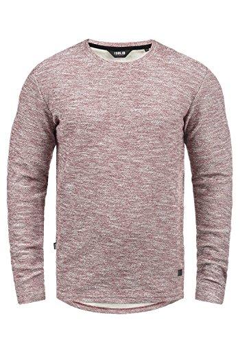 SOLID Gulliver Pullover, Größe:L, Farbe:Wine Red Melange (8985) (Stretch Langarm Tee Baumwolle)