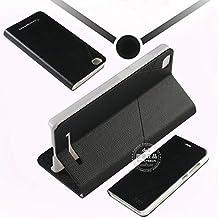 Prevoa ® 丨 Xiaomi Mi4C 4C M4C Funda - Flip PU Protictive Funda Case para Xiaomi Mi4C 4C M4C 5,0 Pulgadas Smartphone - Negro