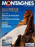 montagnes magazine no 189 du 01 02 1996 4 jours en meije grand raid glaciers du mont rose hors pistes les mysteres d avoriaz