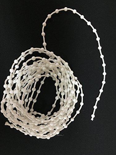 MZDesign Perlenkette als Ersatz für gerissene Rollo Ketten, 5 mtr lang inkl. Kettenverbinder -