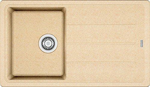 Franke Basis BFG 611-86 Beige Granit-Spüle Küchenspüle Spülbecken Auflagespüle
