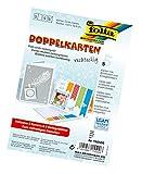 Folia 150500 - Doppelkarten, ca. 10,5 x 15 cm, je 5 Karten (220 g/qm), Kuverts und Einlagen, weiß